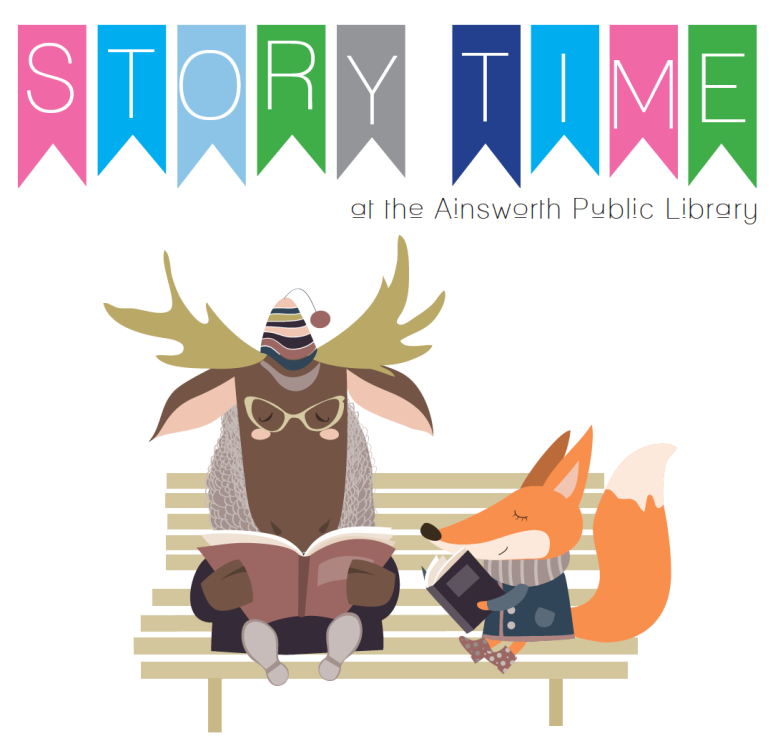 Free storytime every Wednesday from 10am - 11am at Ainsworth Public Library