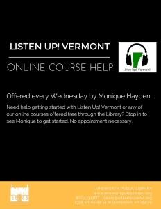 Listen Up Vermont Drop In