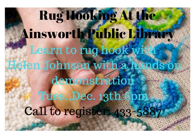 rug-hooking-at-the-ainsworth-public-library