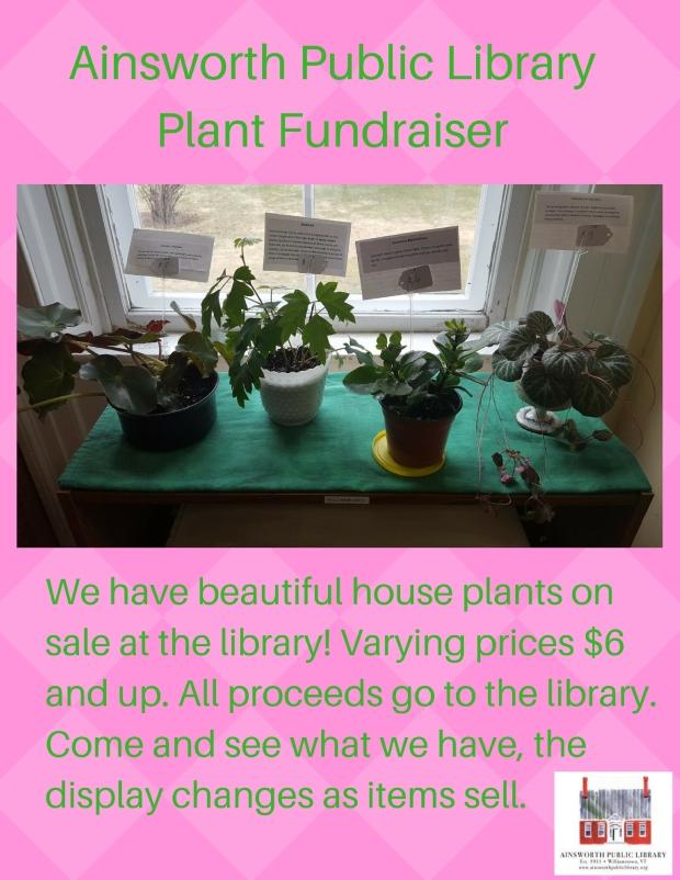 Ainsworth Public Library Fund Raiser Houseplants